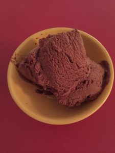 Chocolate Raspberry 'ice-cream'